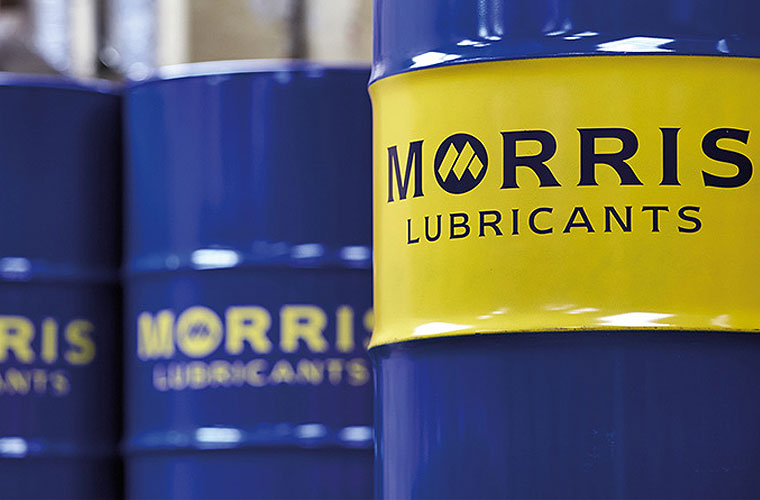 Morris Lubricants oil barrel