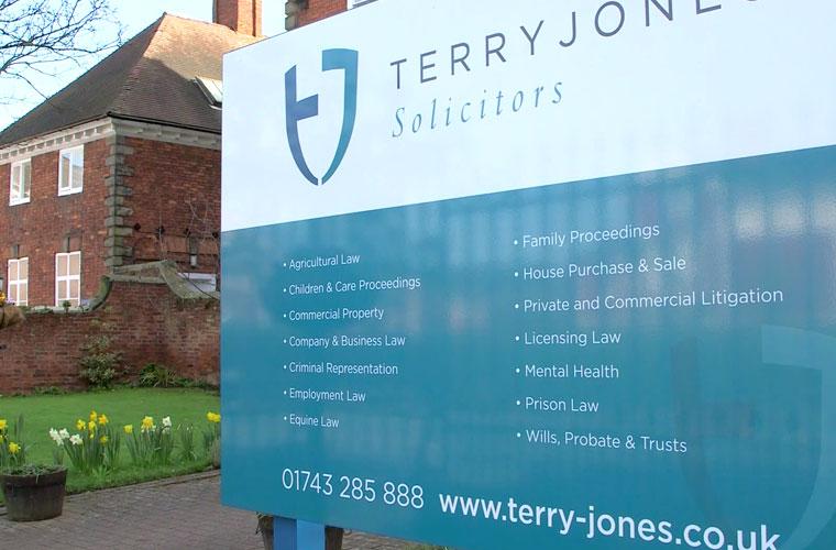 Terry Jones signage