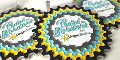 Pedal the Borders medals